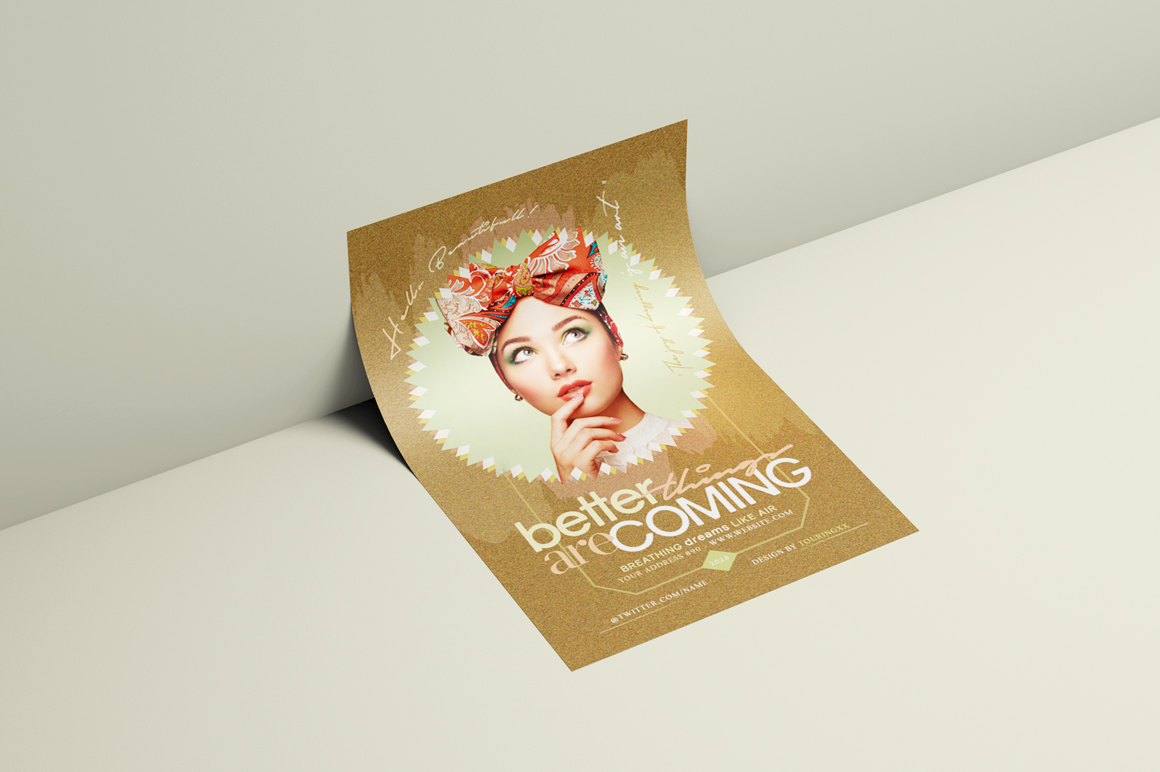 Better Things Are Coming Flyer Template example image 3