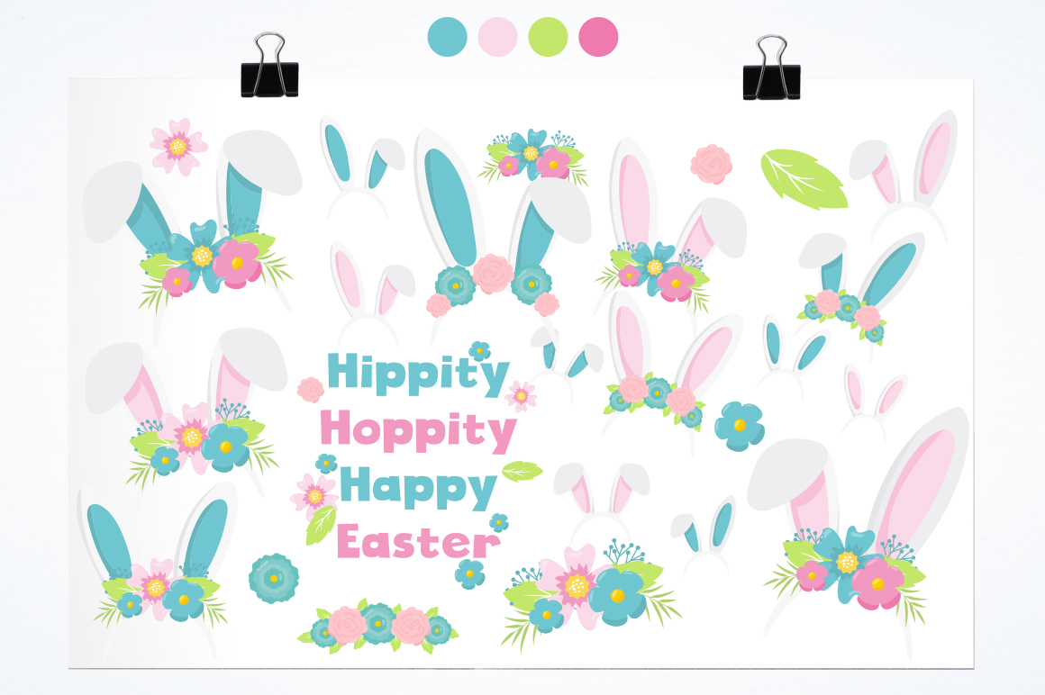 Happy Easter graphic and illustrations example image 2