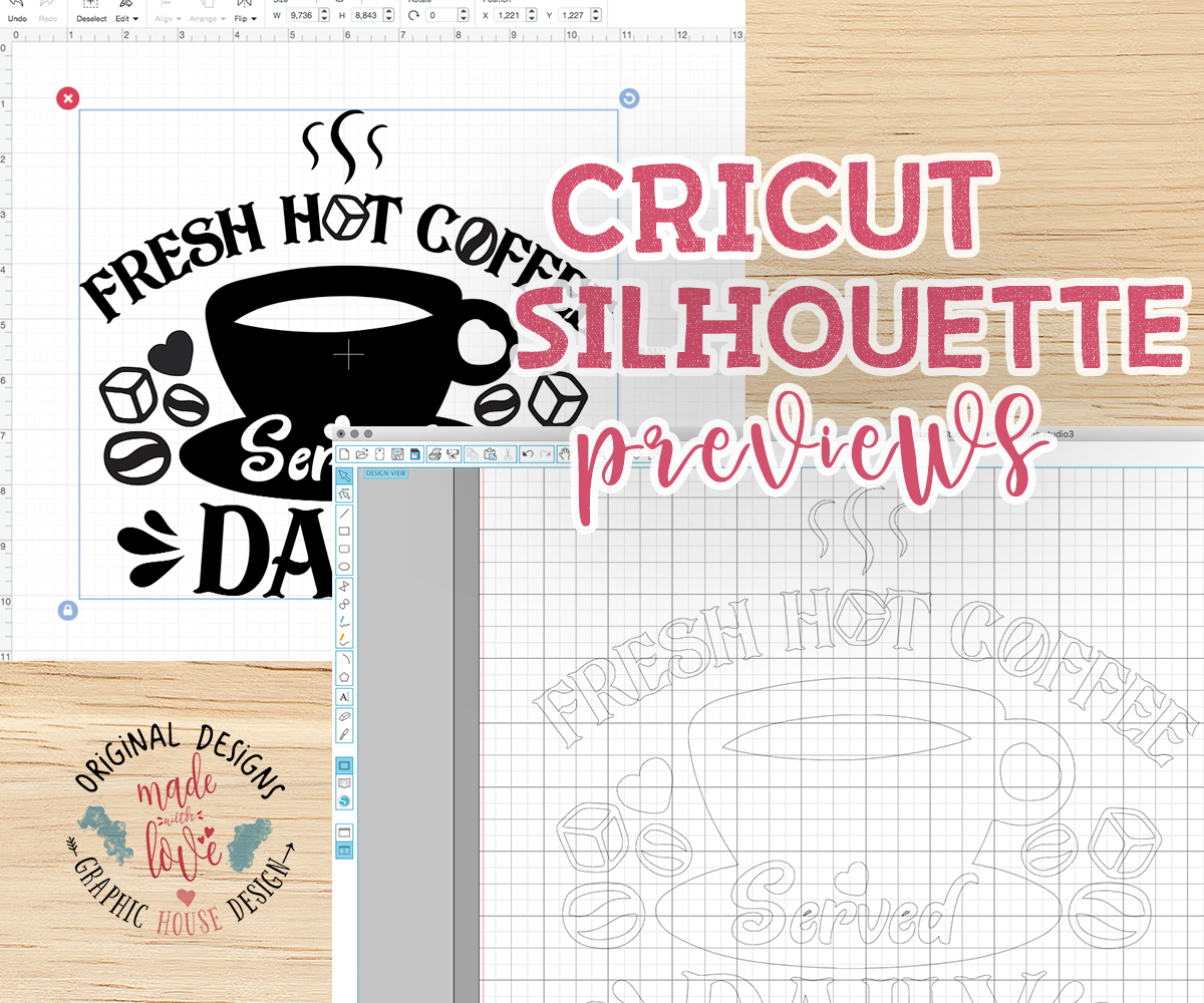 Fresh Hot Coffee Served Daily Cut File SVG, DXF, PNG example image 2
