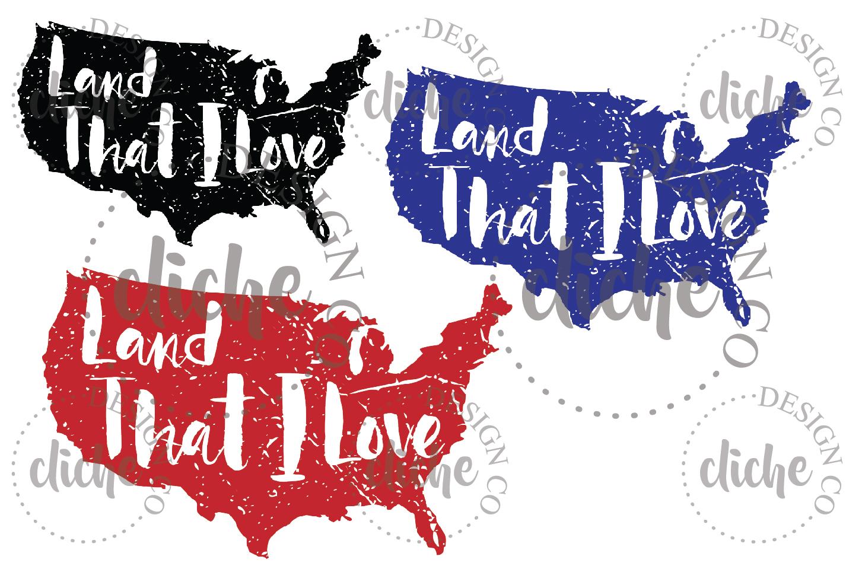 Land That I Love Sublimation Design Set example image 1