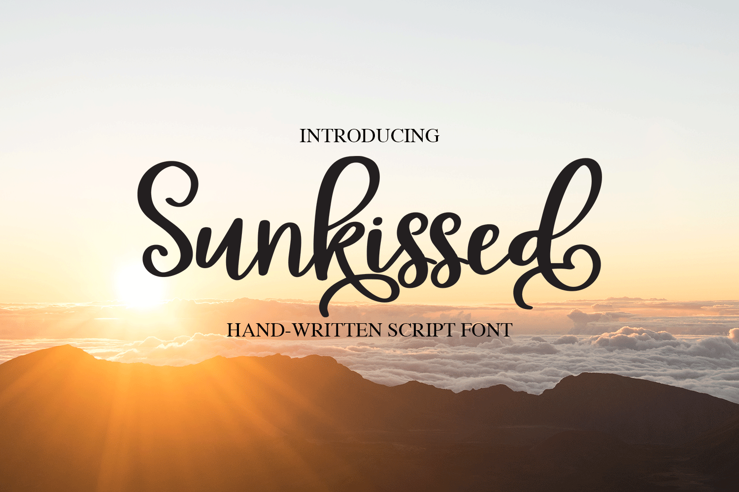 Sunkissed Script - A Hand-Written Calligraphy Font example image 1