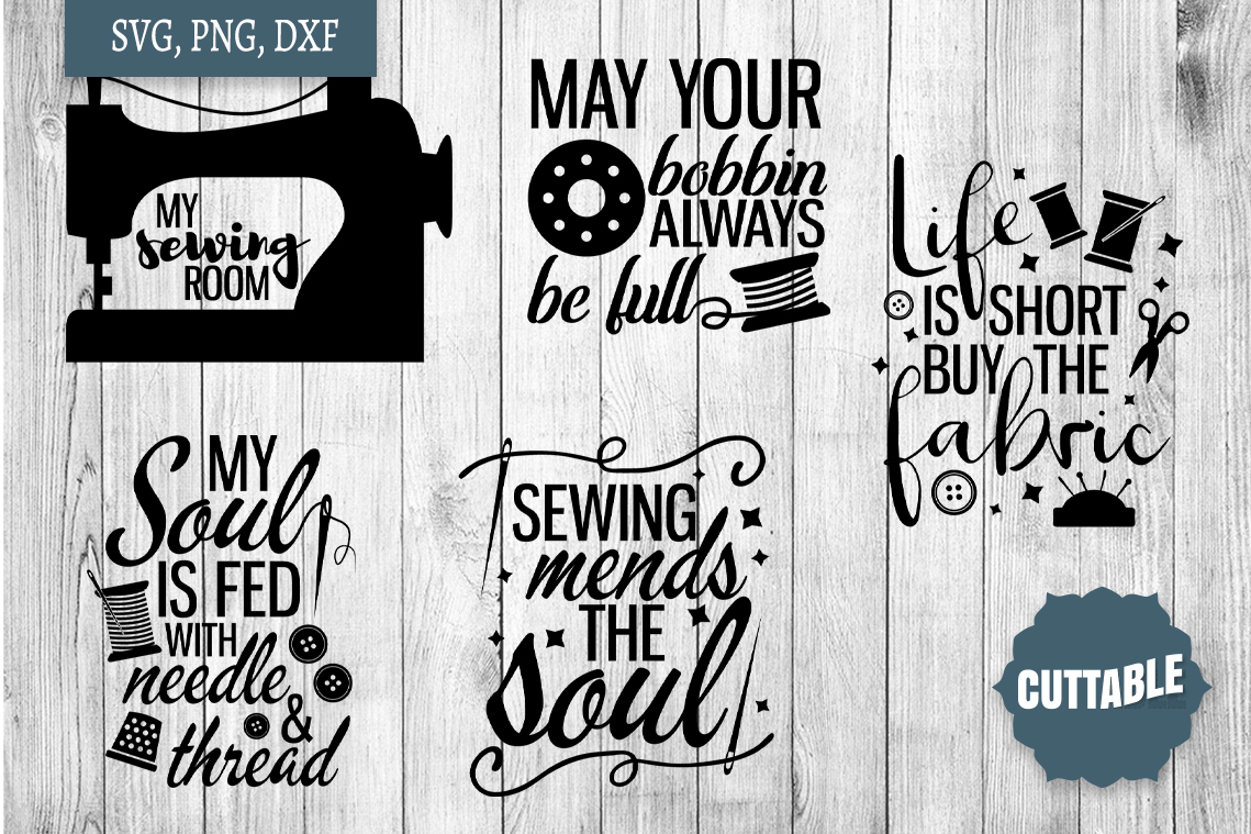 Sewing SVG bundle, Sew crafty, sewing quotes cut file bundle example image 3