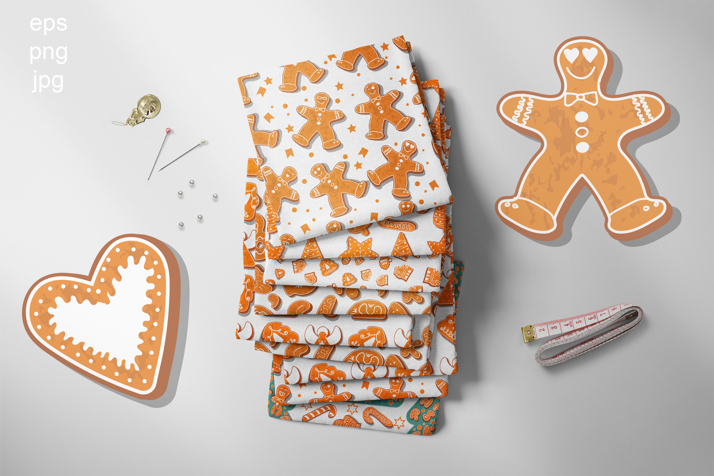 Gingerbread seamless patterns example image 2