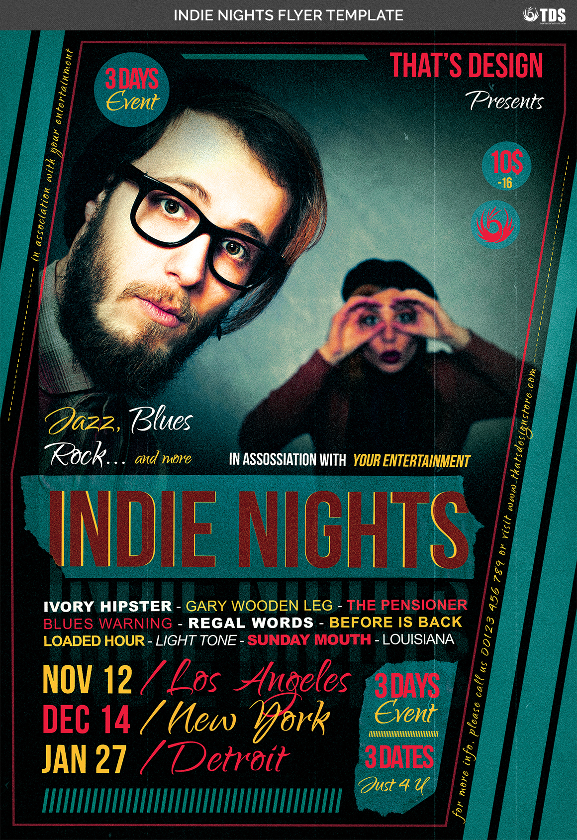Indie Nights Flyer Template example image 4