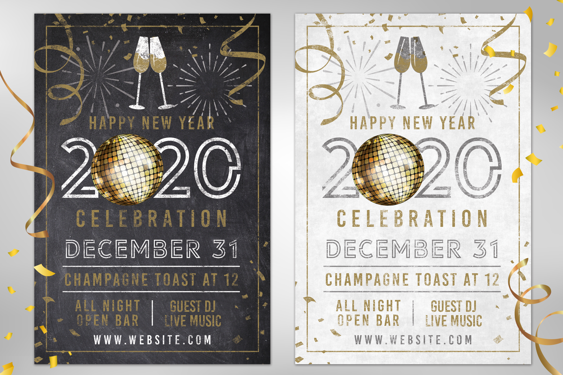 Chalk NYE New Years Eve Party Invite example image 1