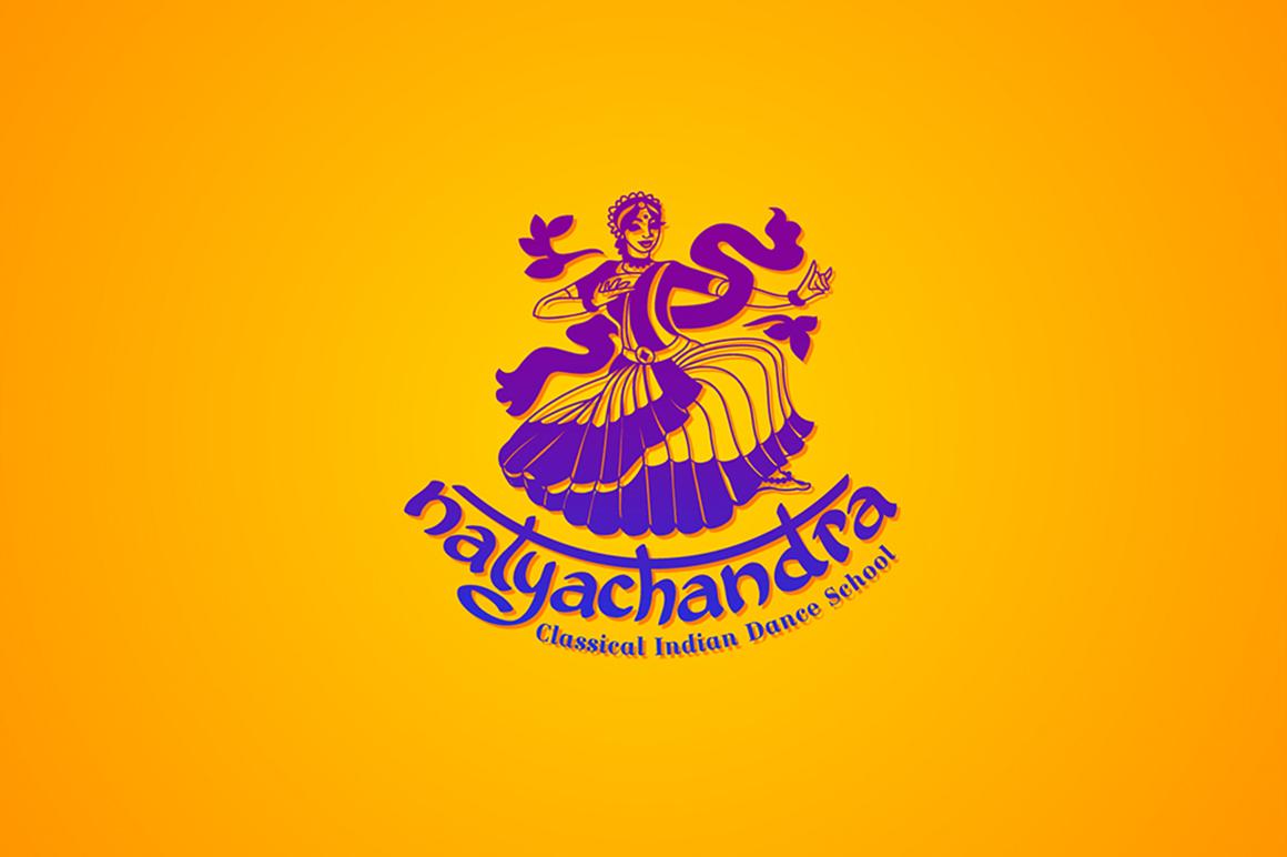 India Dance logo symbol illustration example image 3