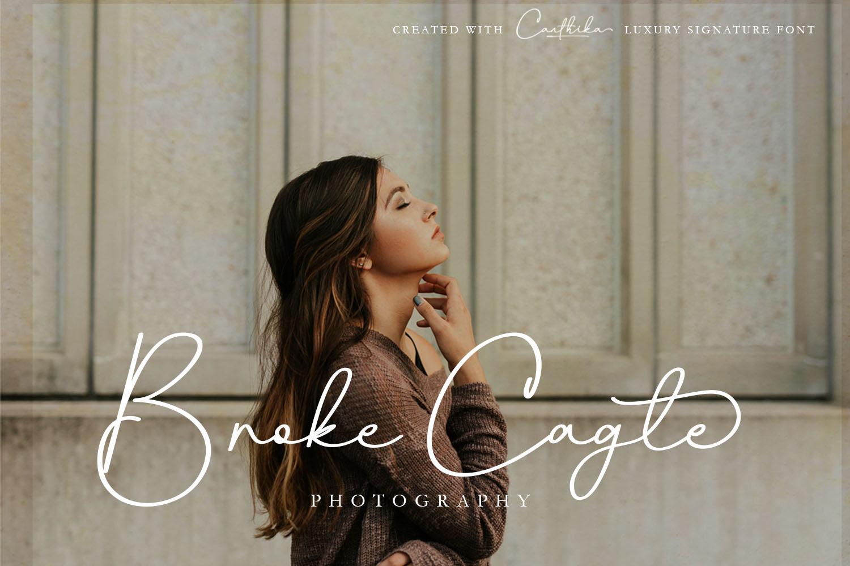 Canthika Luxury Signature Typography example image 3