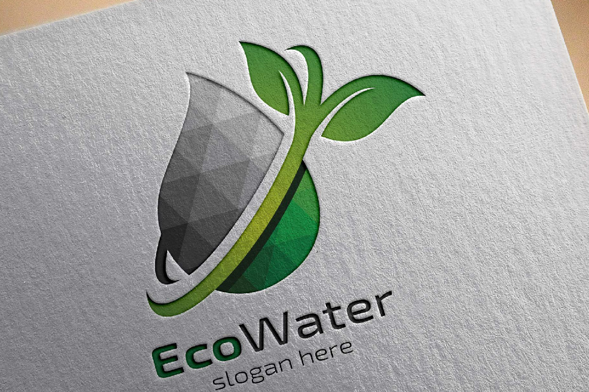 Water Drop Ecology logo template example image 6