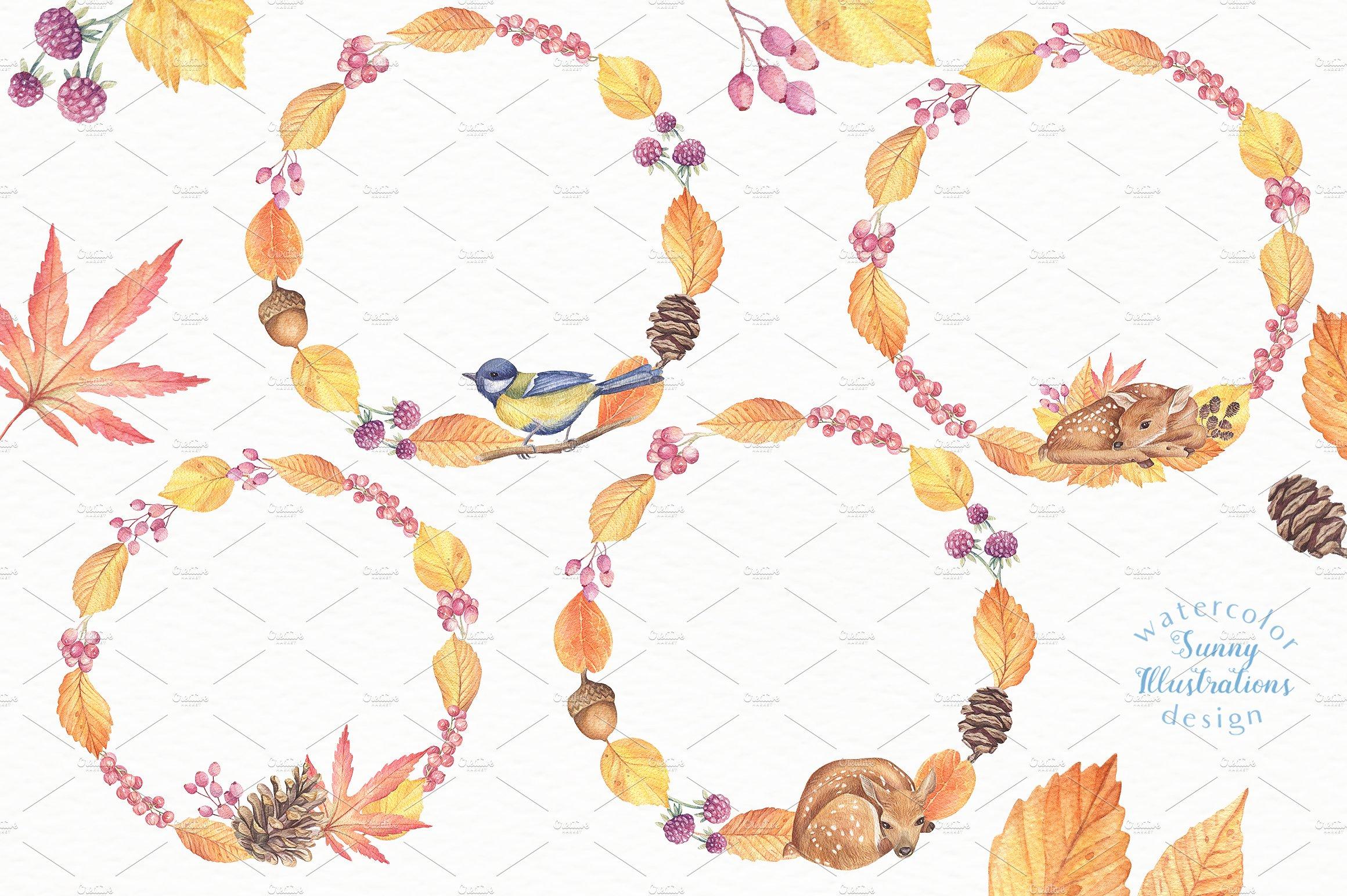 Happy Autumn - Watercolor Set example image 8