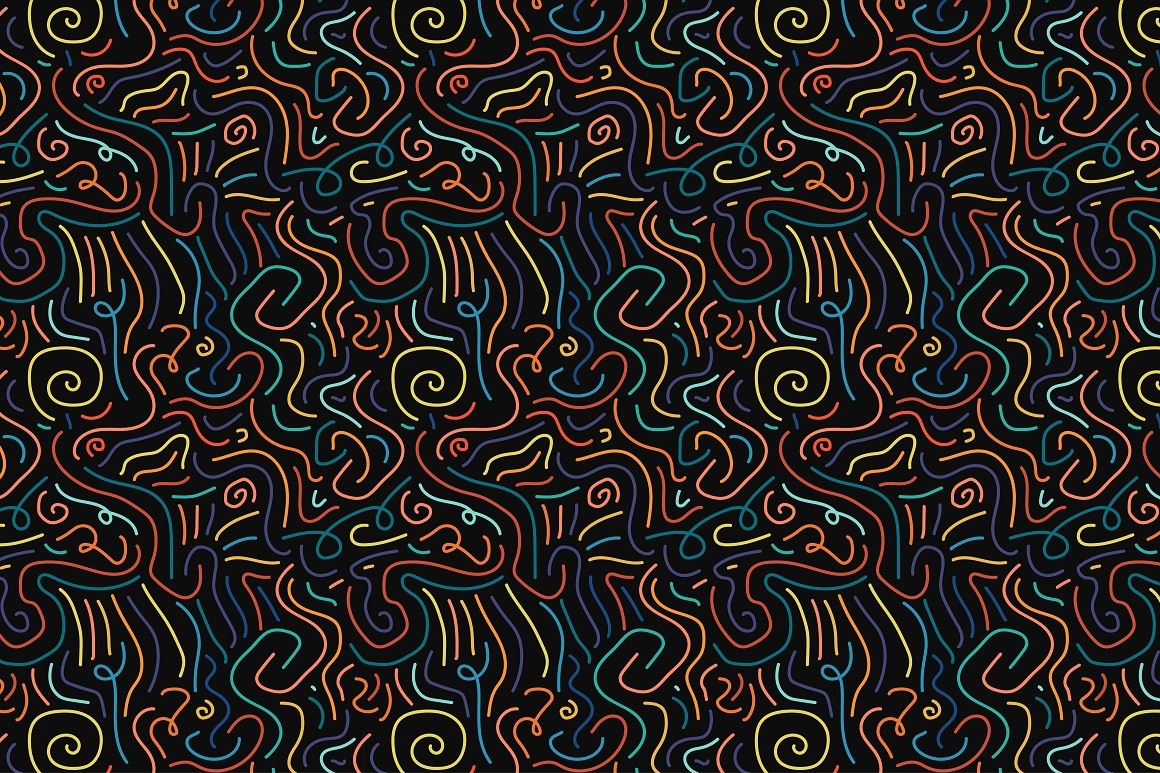 Colorful seamless patterns. example image 4