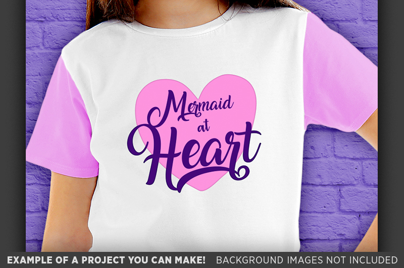 Mermaid at Heart SVG - Mermaid Shirt SVG File - 1061 example image 3
