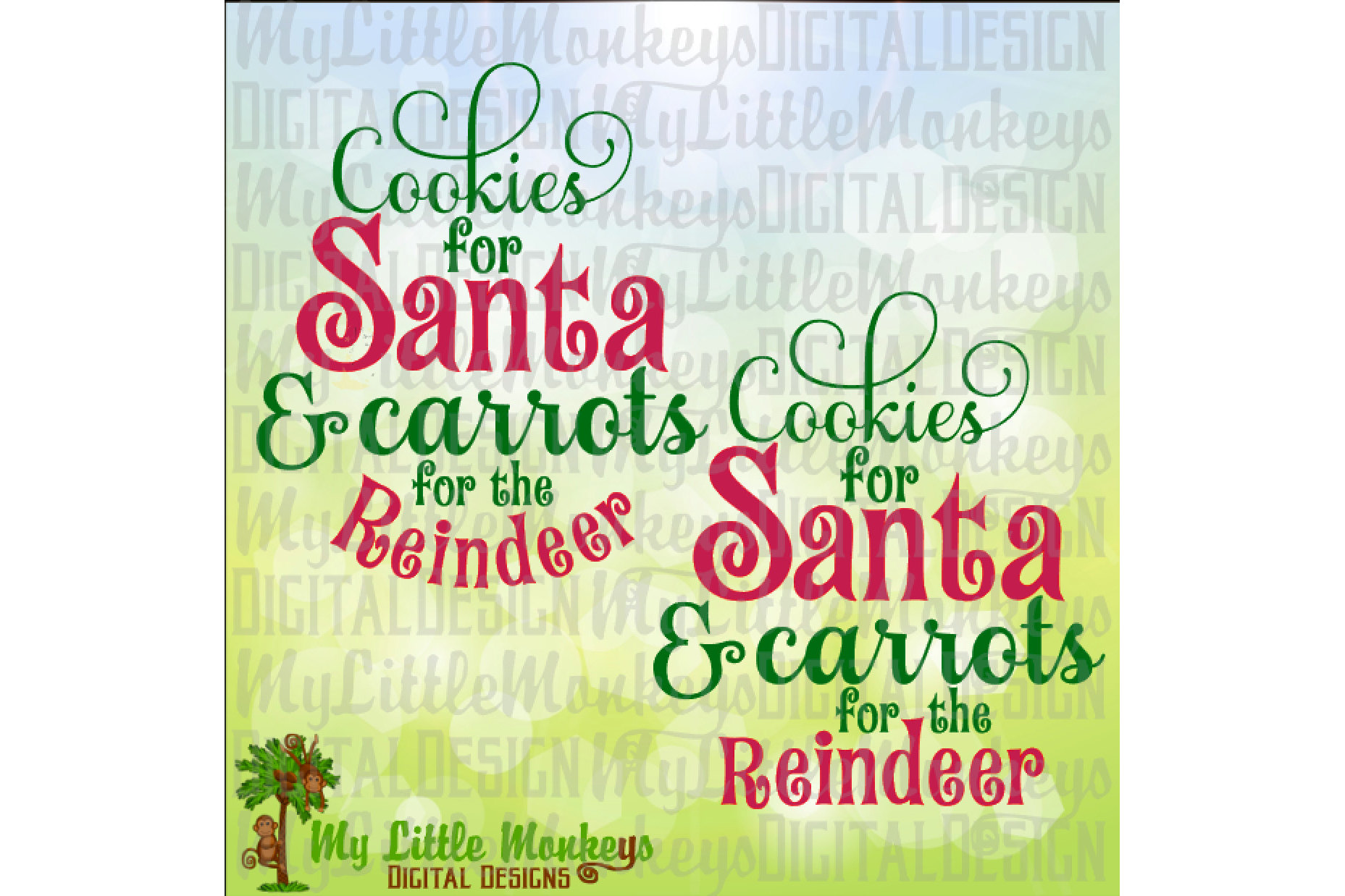 Cookies for Santa Carrots for the Reindeer example image 1