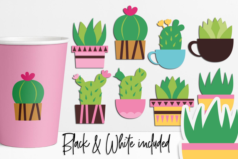 Succulent cactus clip art illustrations bundle example image 8