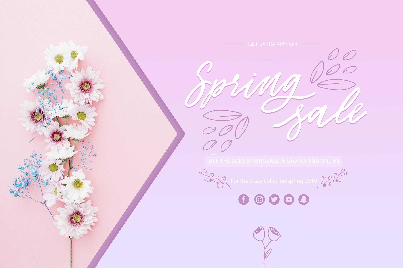 Flower Power script font example image 4