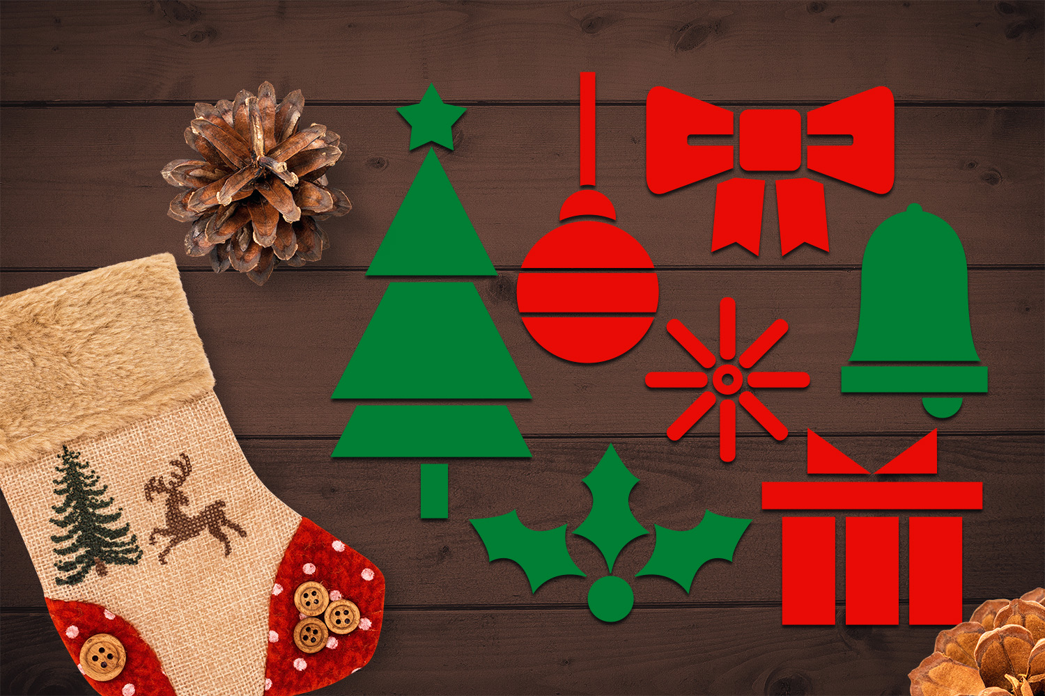 Bundle - Christmas ornaments and Gingerbread Graphics example image 12