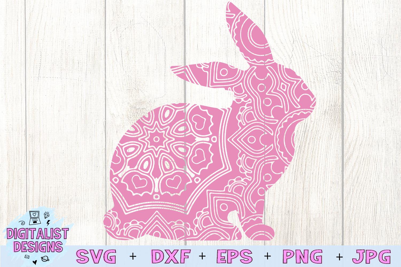 Mandala Bunny SVG example image 3