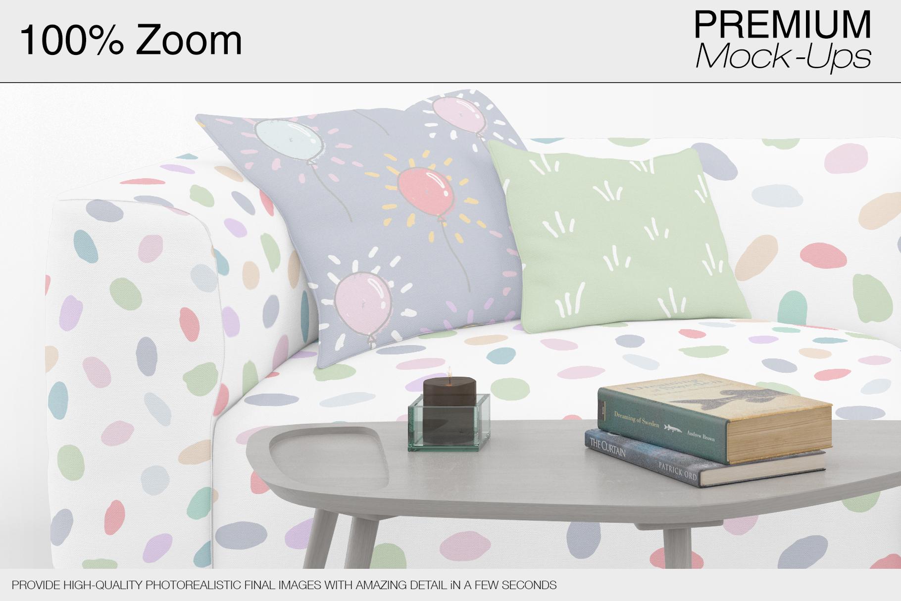 Sofa & Pillows Mockup Pack example image 9
