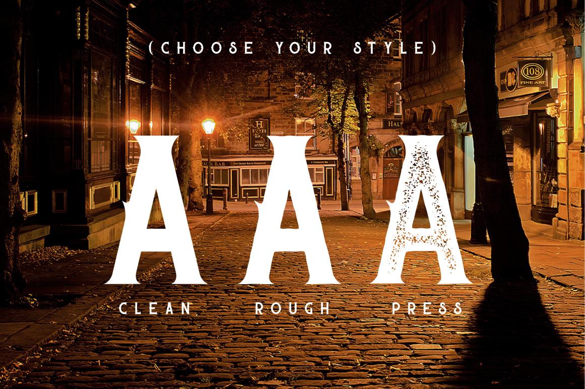 Sherlock Typeface - 3 Font Styles example image 2