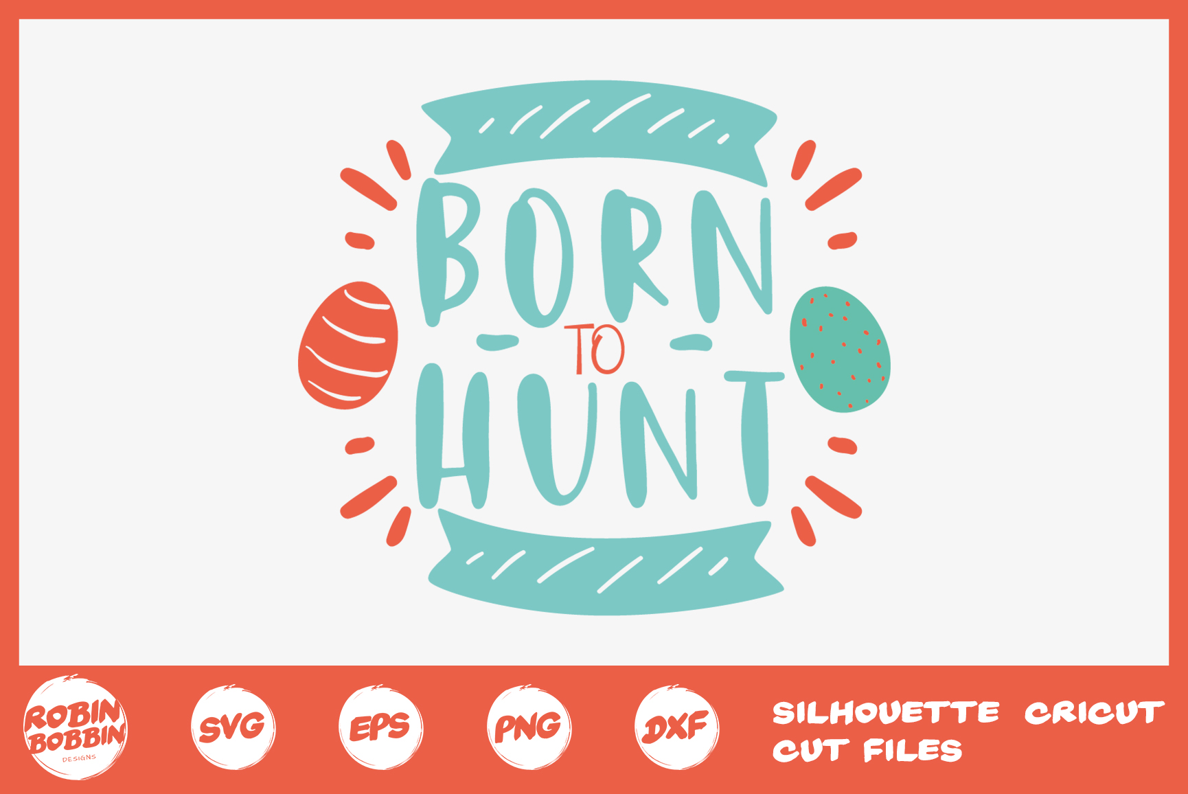 Easter svg, Born To Hunt SVG, Baby Easter Crafts example image 1