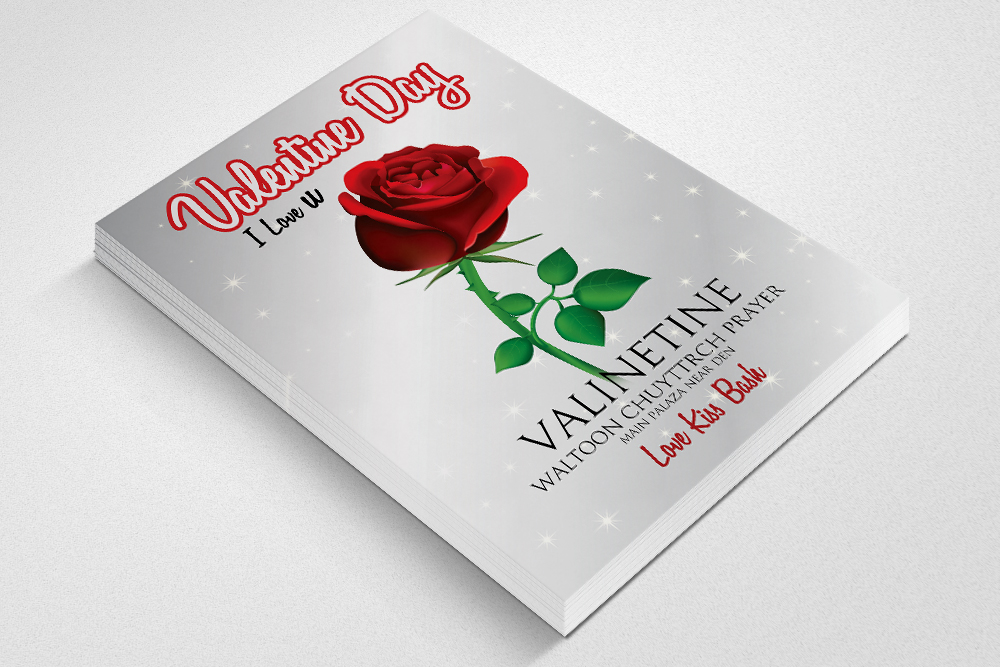 Valentine Flyer Template Psd example image 2