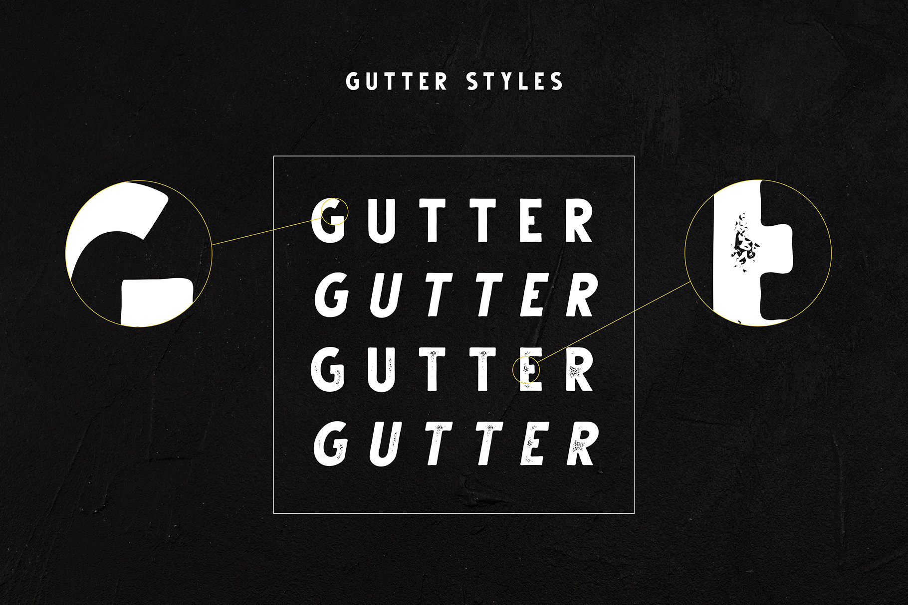 Gutter - Handdrawn Sans 4 Styles example image 2