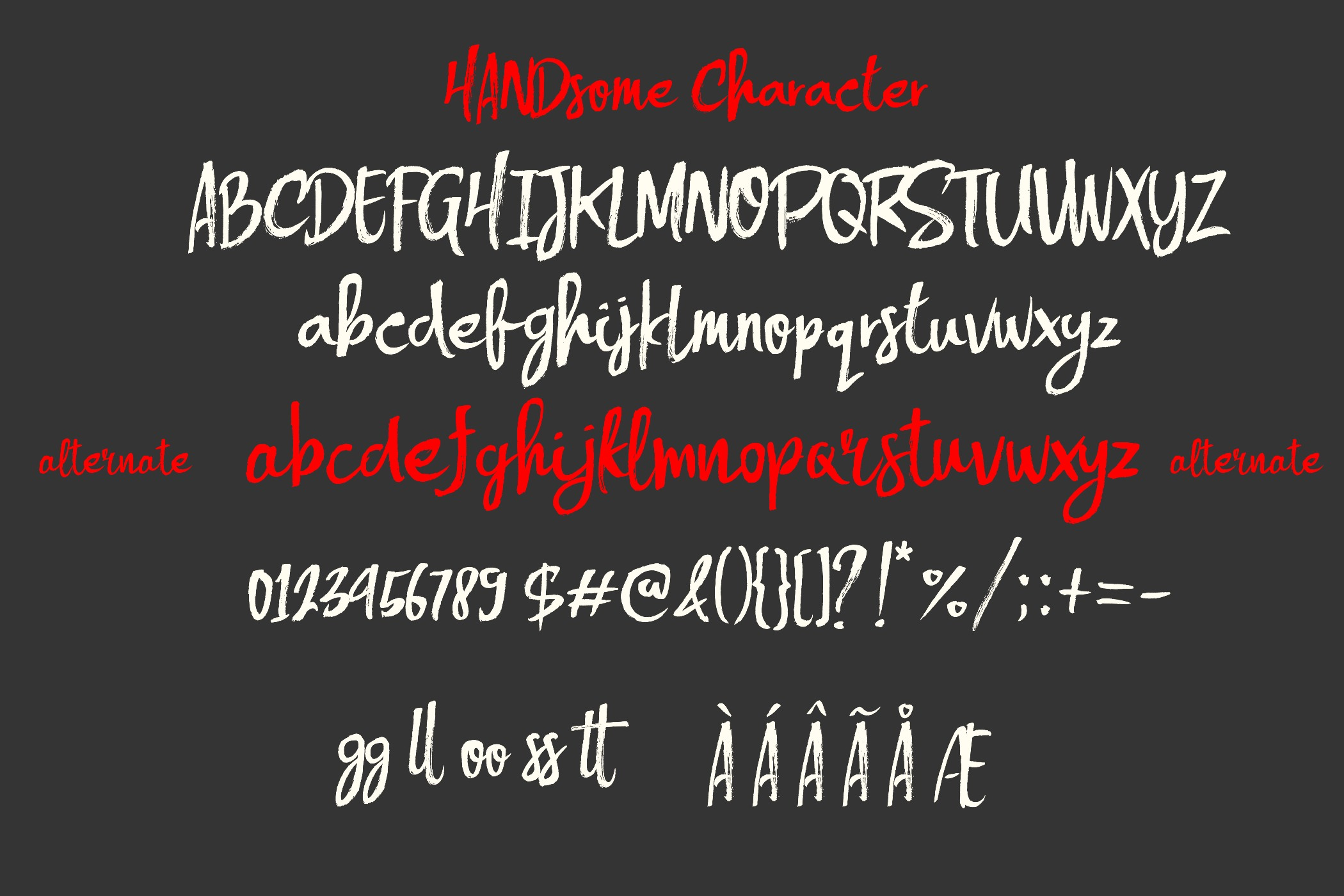 HANDSOME Script and Extras example image 4