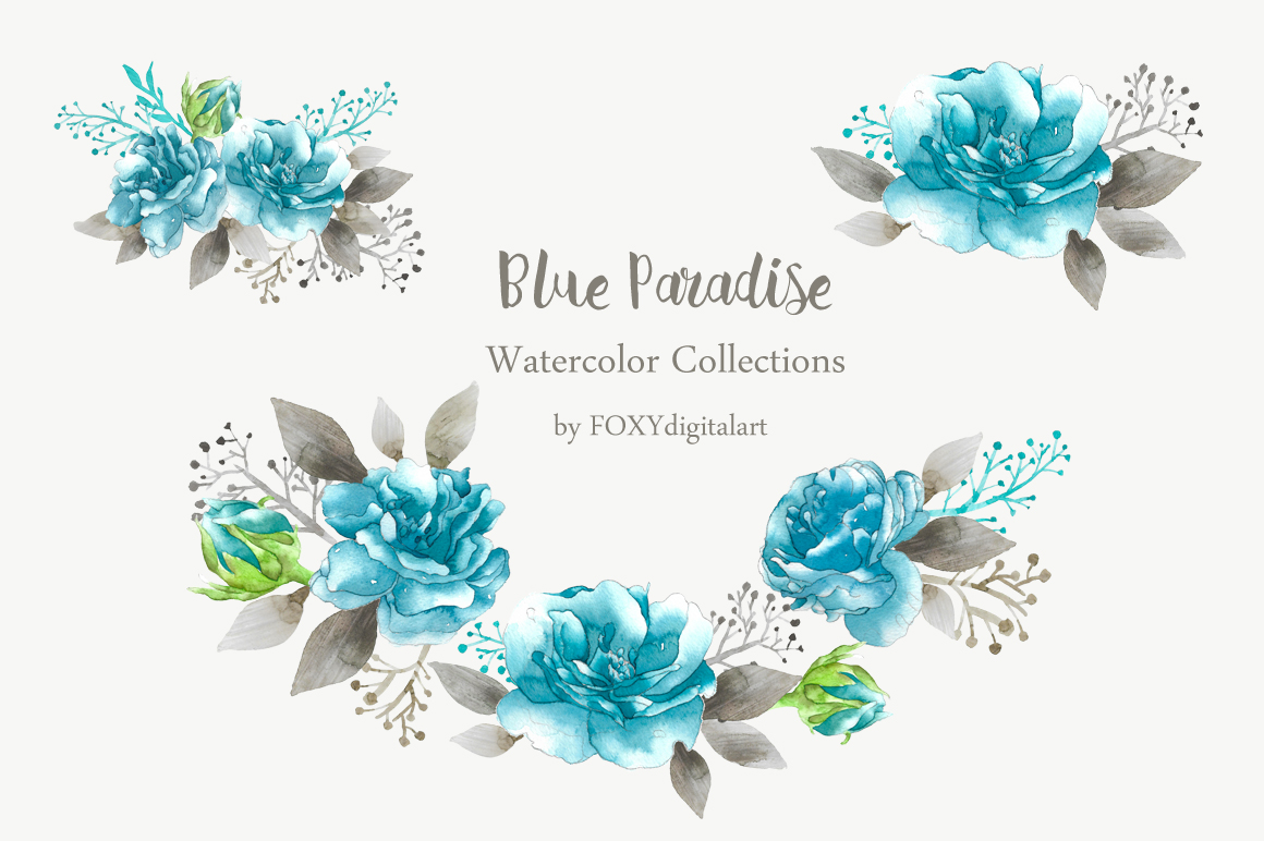 blue rose clipart example image 2