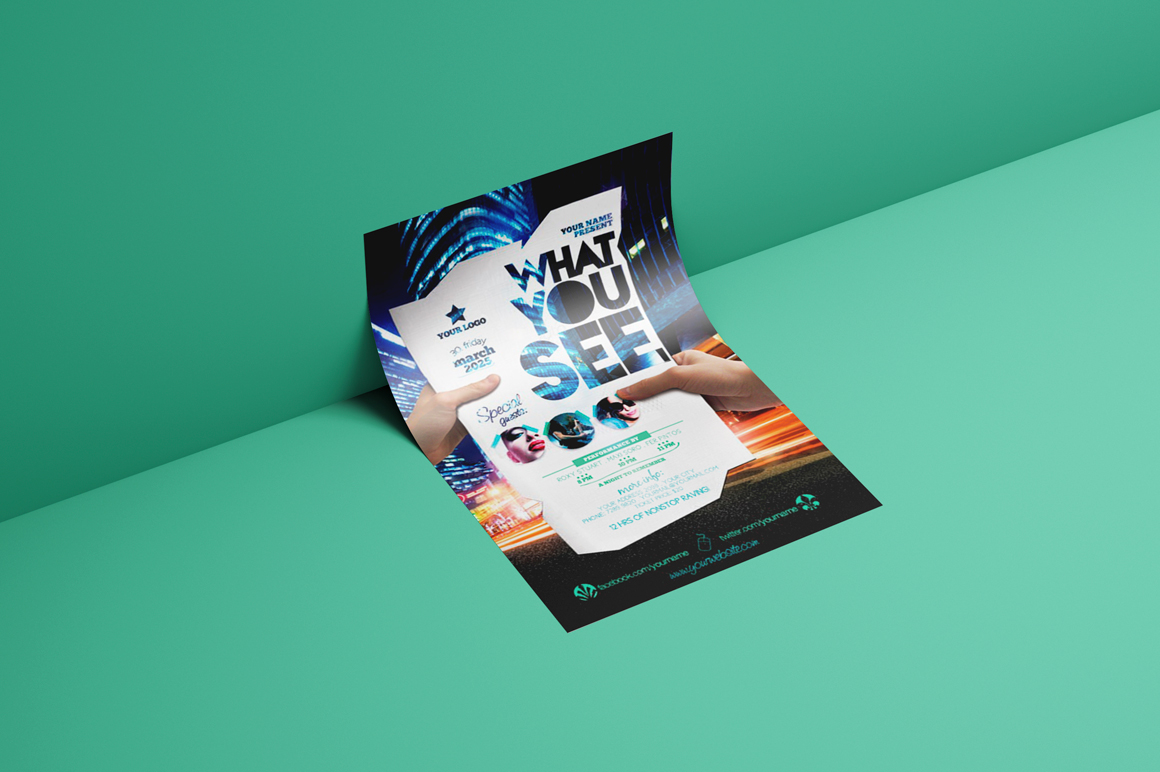 What You See Flyer Template example image 2