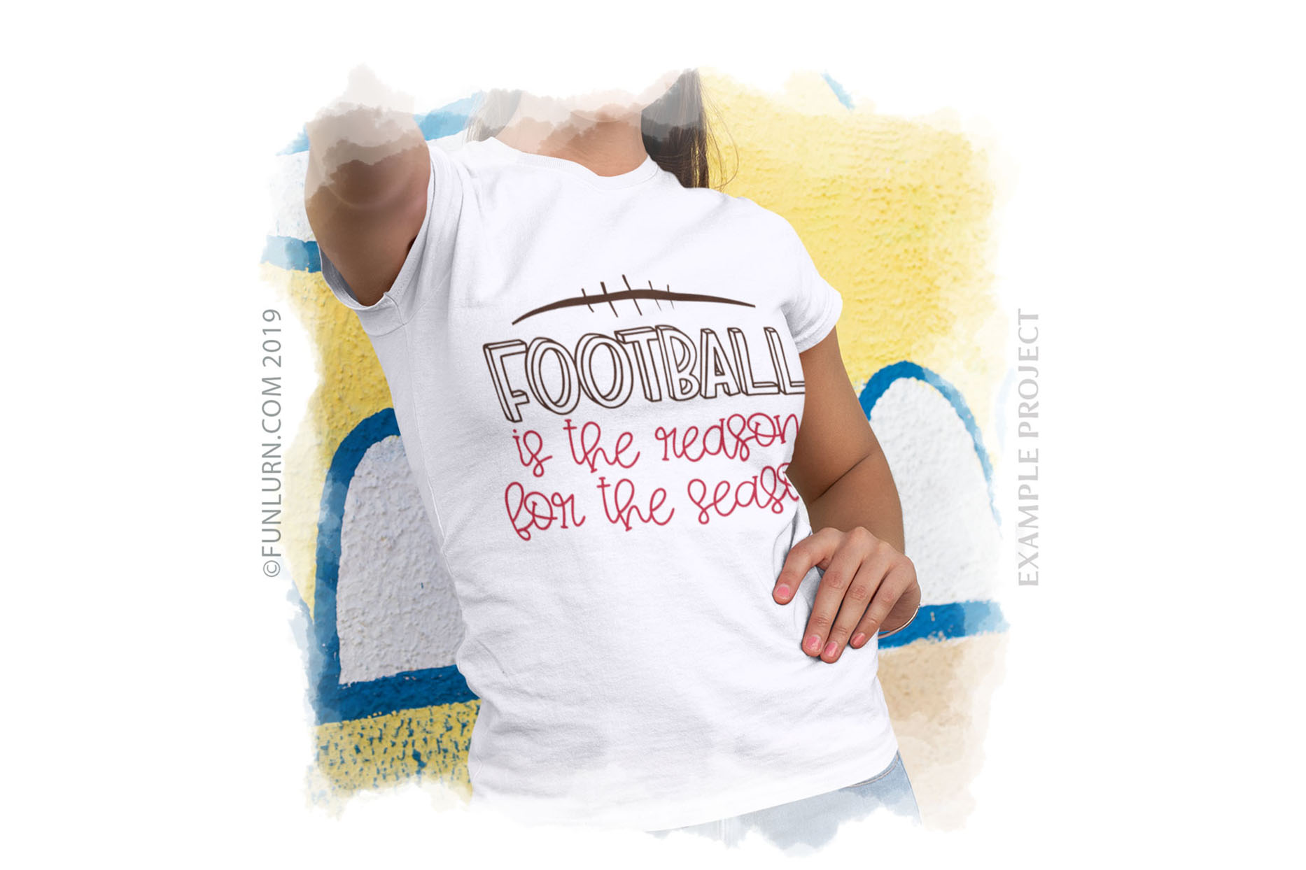 Football is the Reason For the Season SVG Cut File example image 3