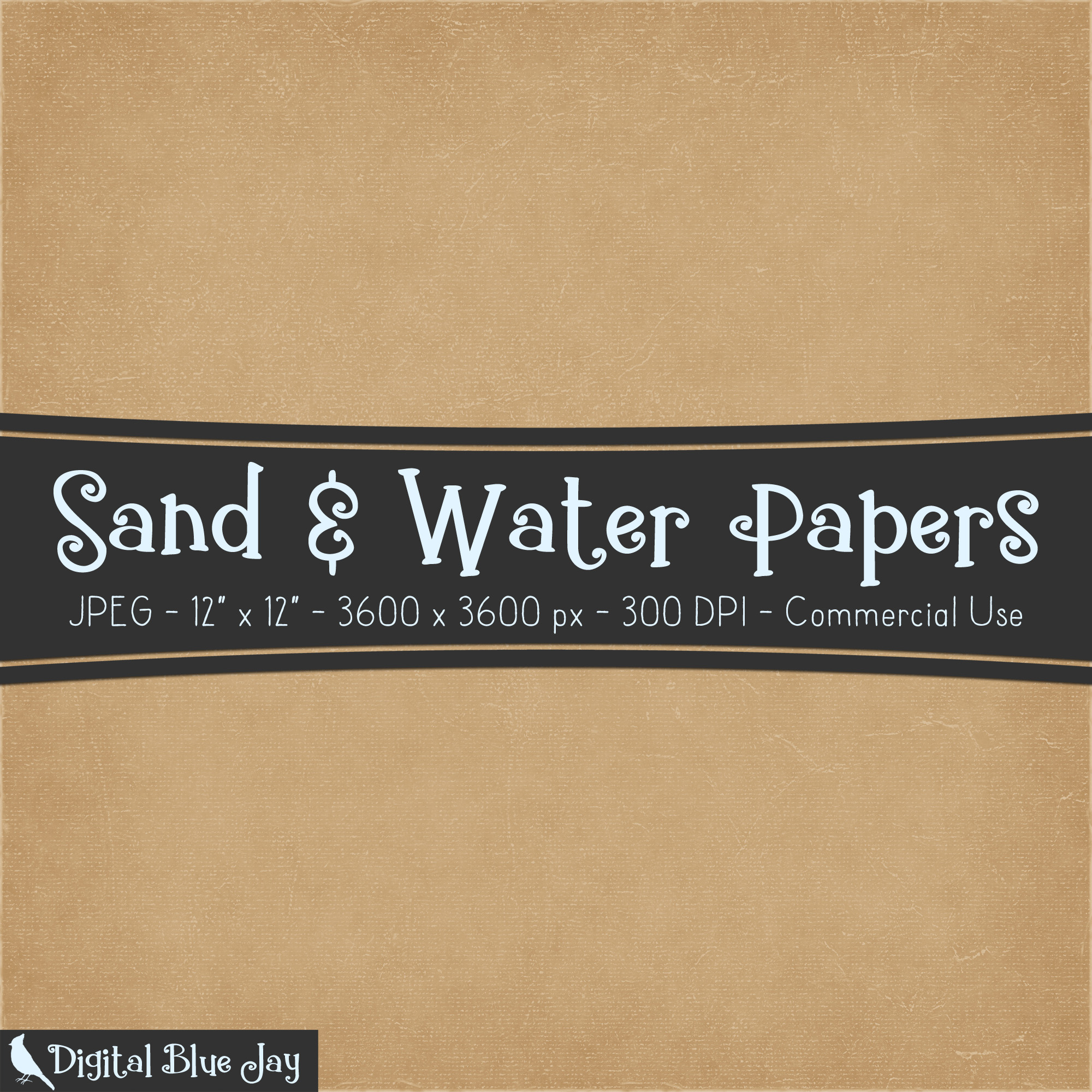 Digital Paper Textured Backgrounds - Sand & Water example image 2