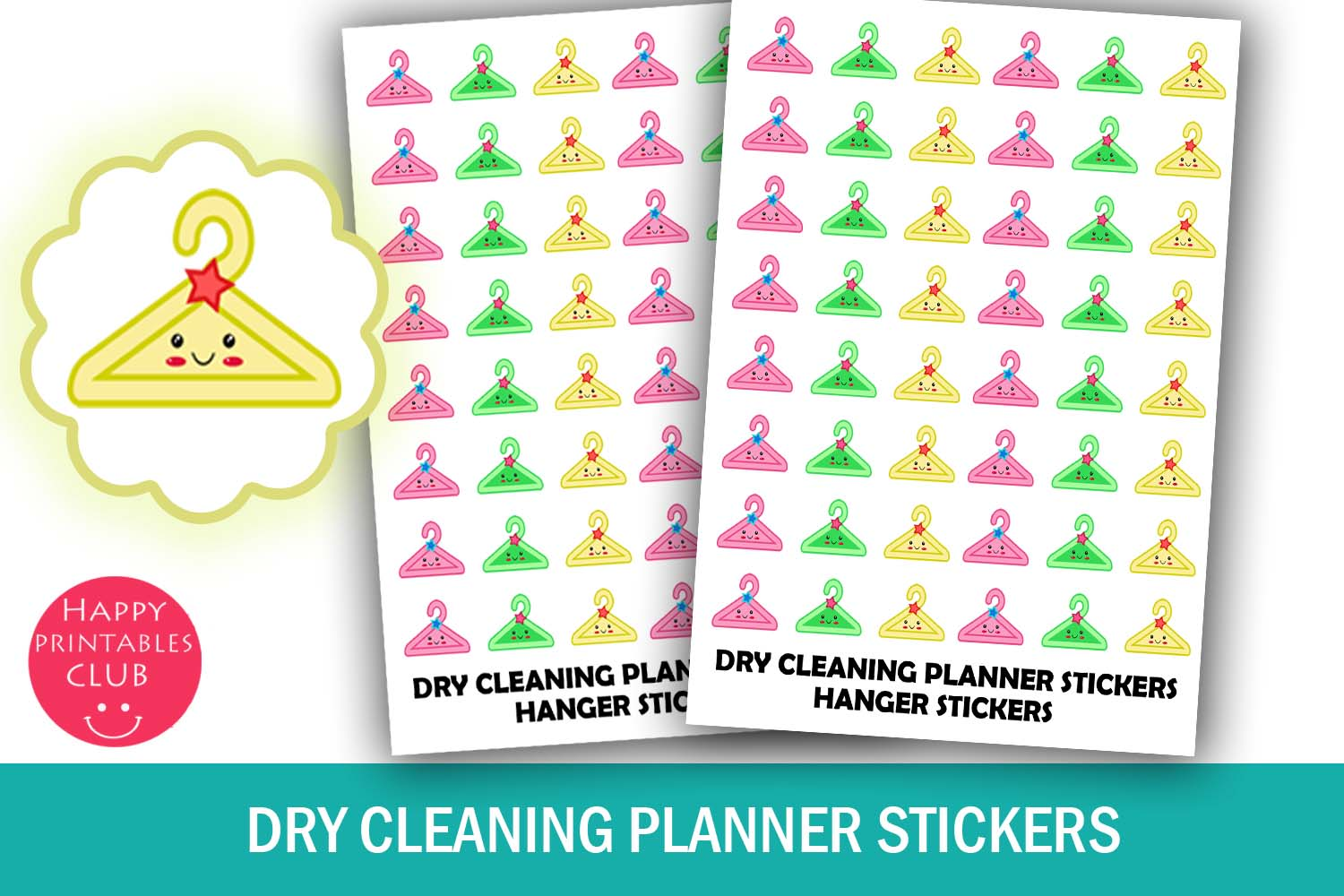 Dry Cleaning Planner Stickers- Hanger Stickers-Laundry example image 1