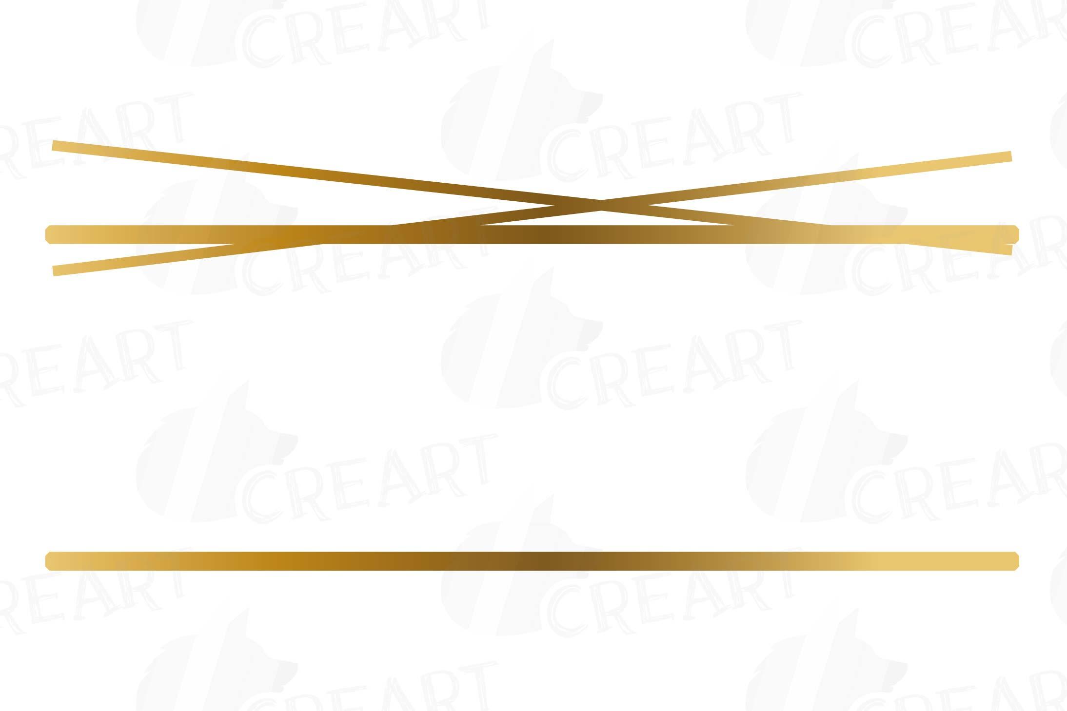 Elegant wedding geometric golden frames, lineal frames png example image 21