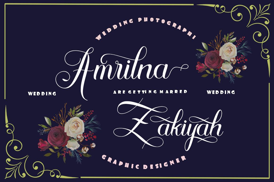Algendria Modern Script Font example image 4