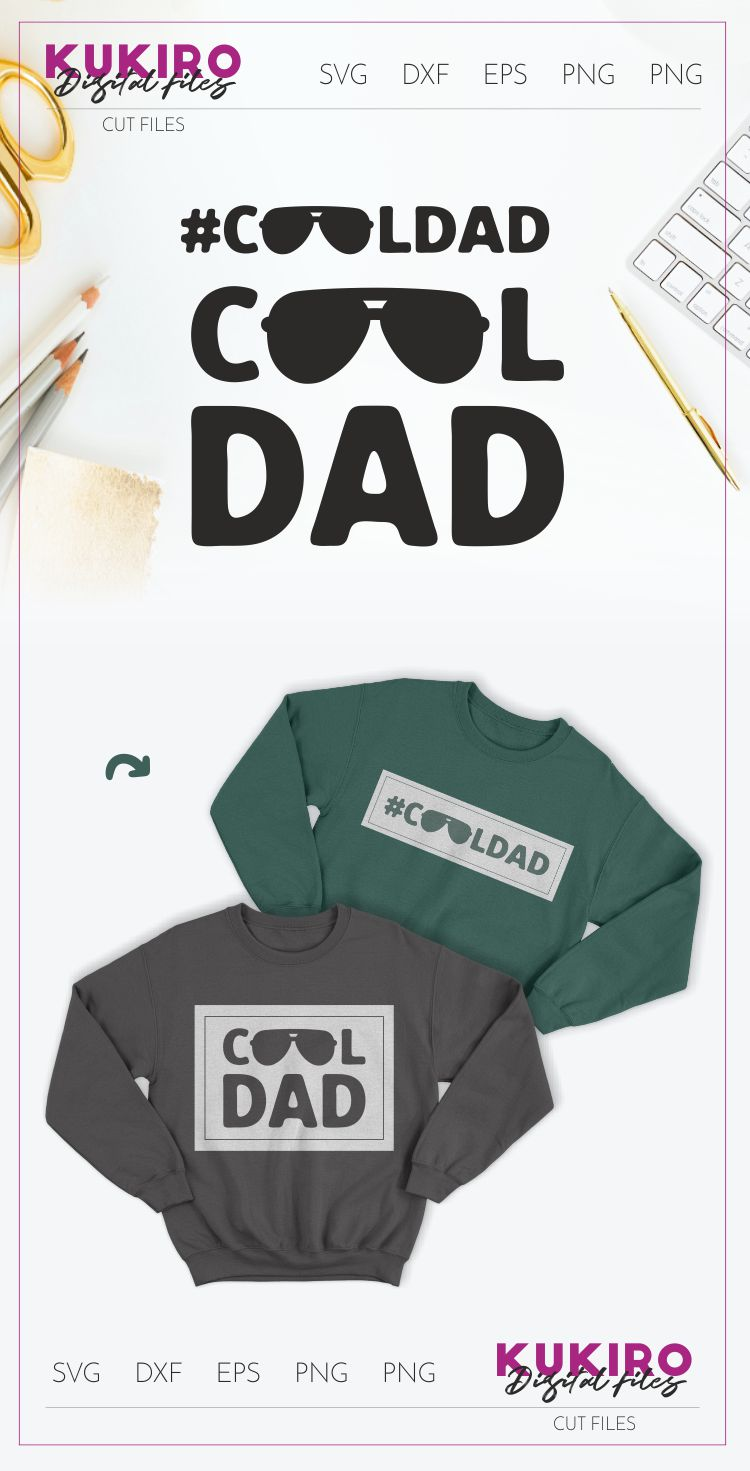 COOL DAD SVG - Father's day - FATHER cut file example image 2