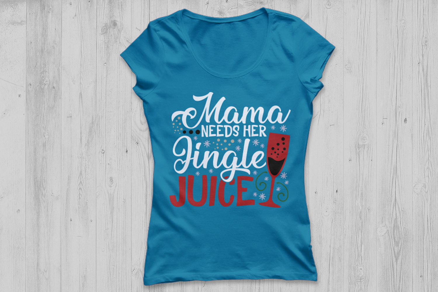 Mama Needs Her Jingle Juice Svg, Christmas Svg, Wine Glass. example image 2