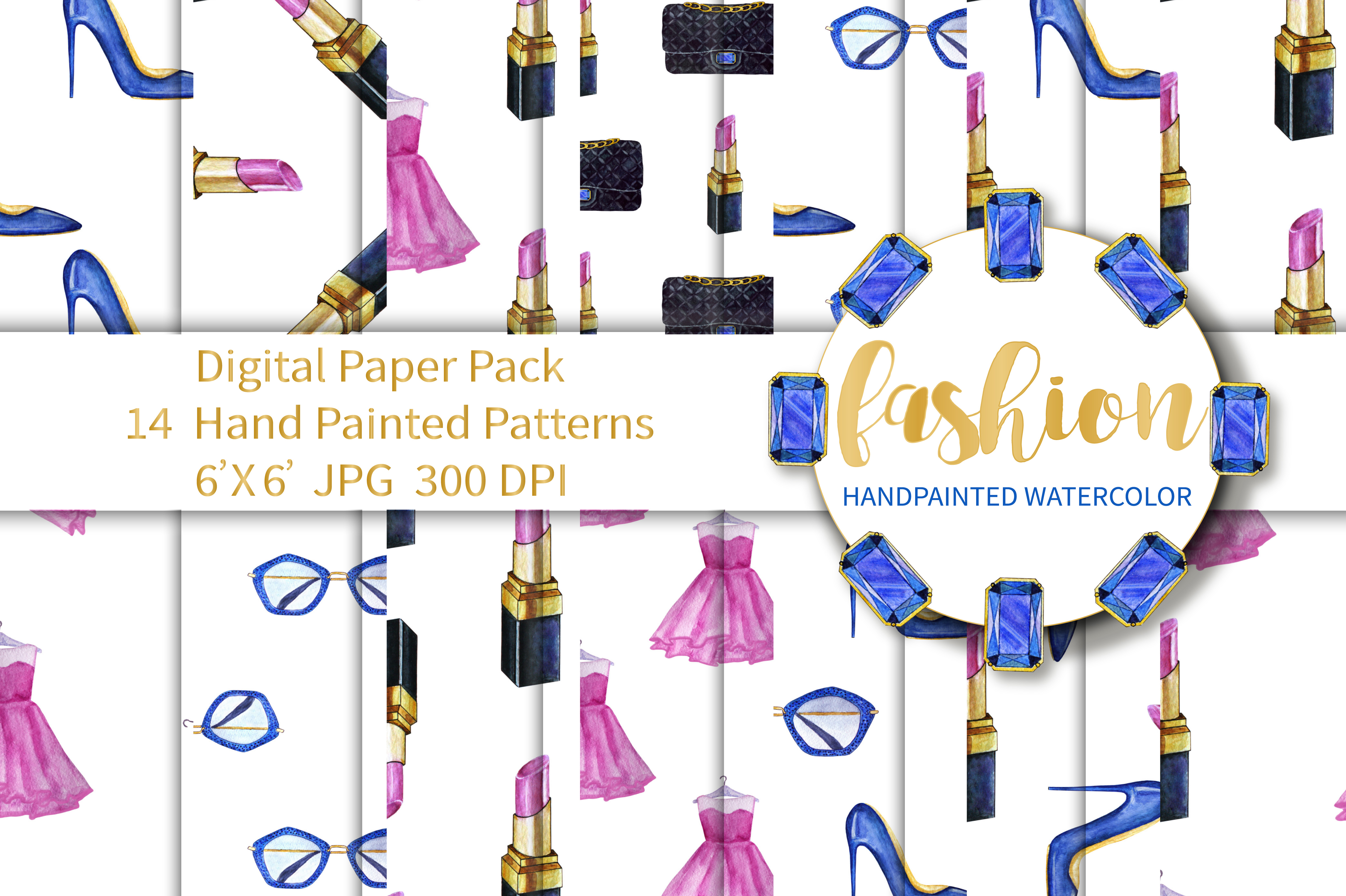 Fashion Digital Paper Pack example image 1