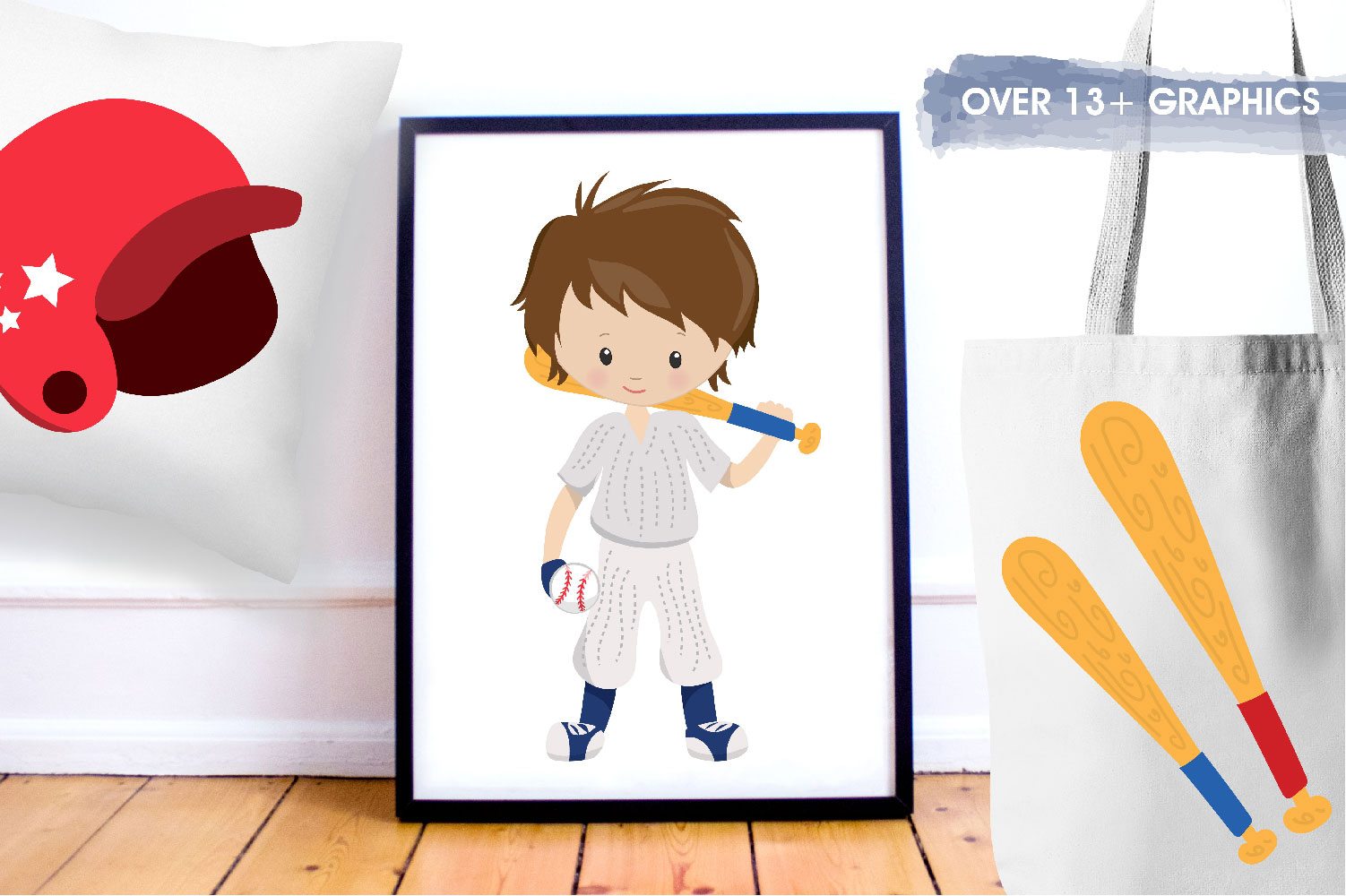 Baseball Cute Graphics example image 5