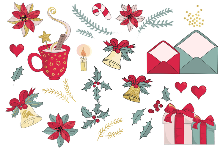 BEST WISHES Christmas Vector Illustration Pattern Animation example image 12