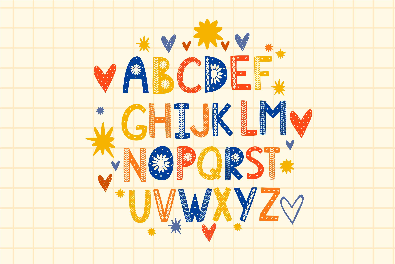 Color Scandinavian style. vector alphabet example image 2