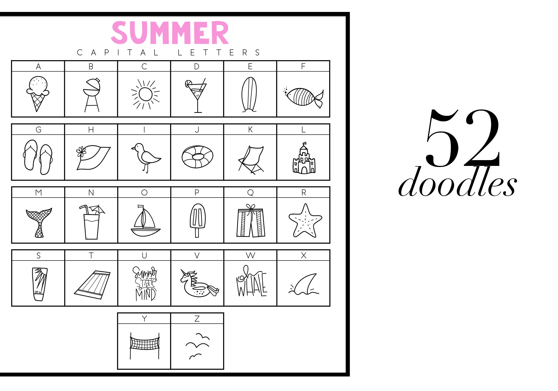 Summer Break / Summer Doodle Font  example image 2