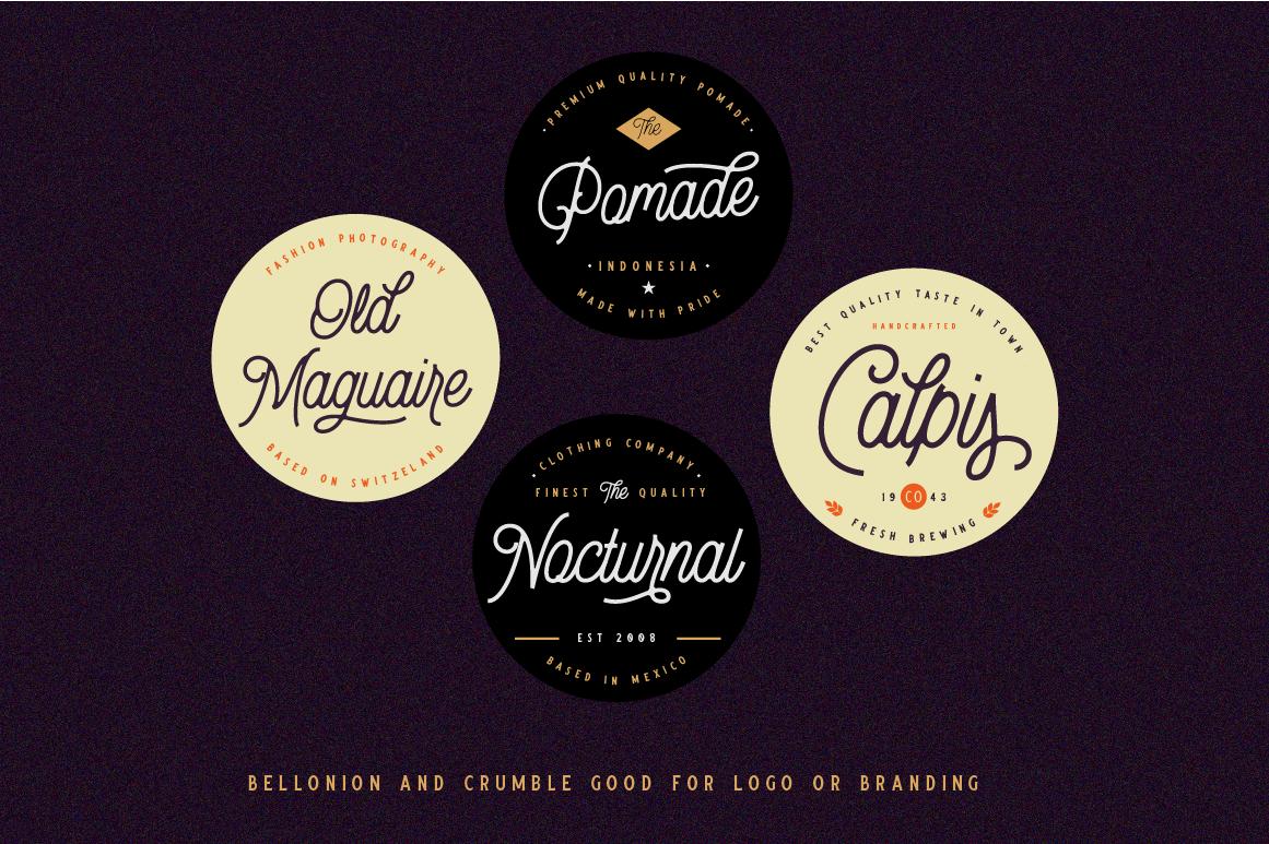 Bellonion Monoline Script example image 10