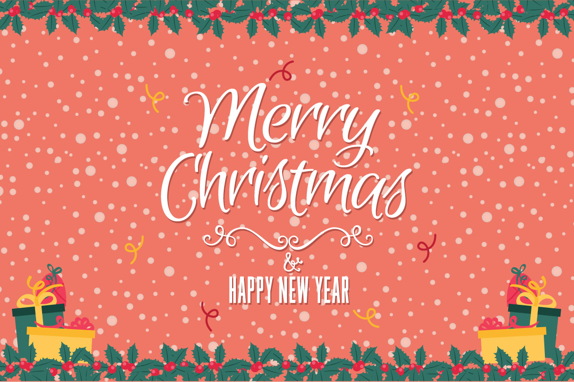 Christmas greeting red card example image 1