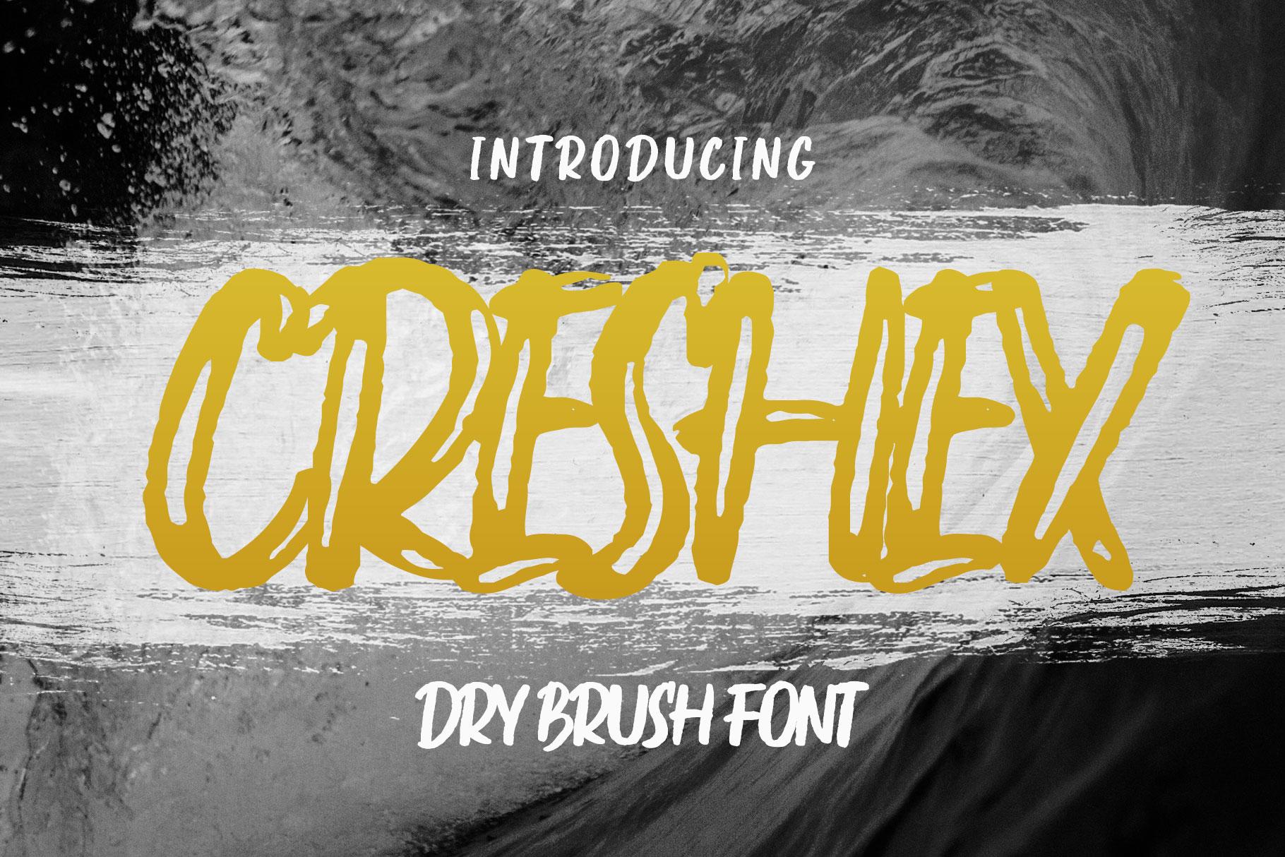 Creshex Dry Brush Font example image 1