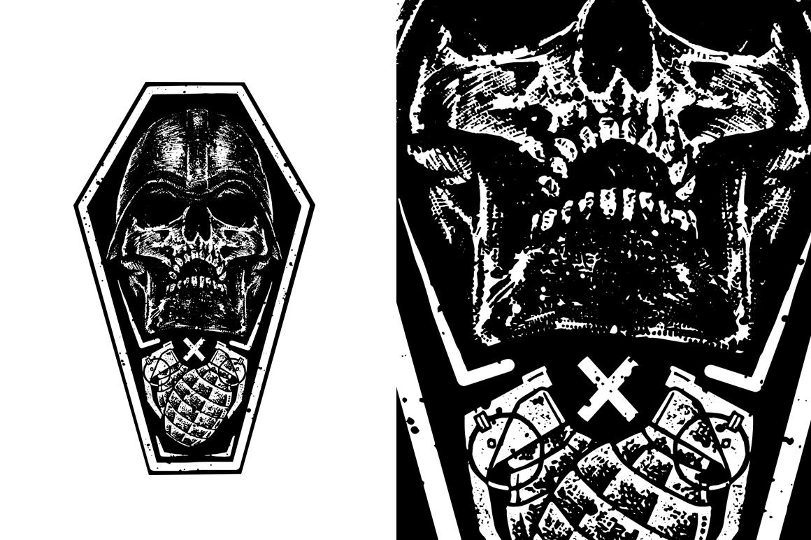 20 VECTOR skull illustration example image 3