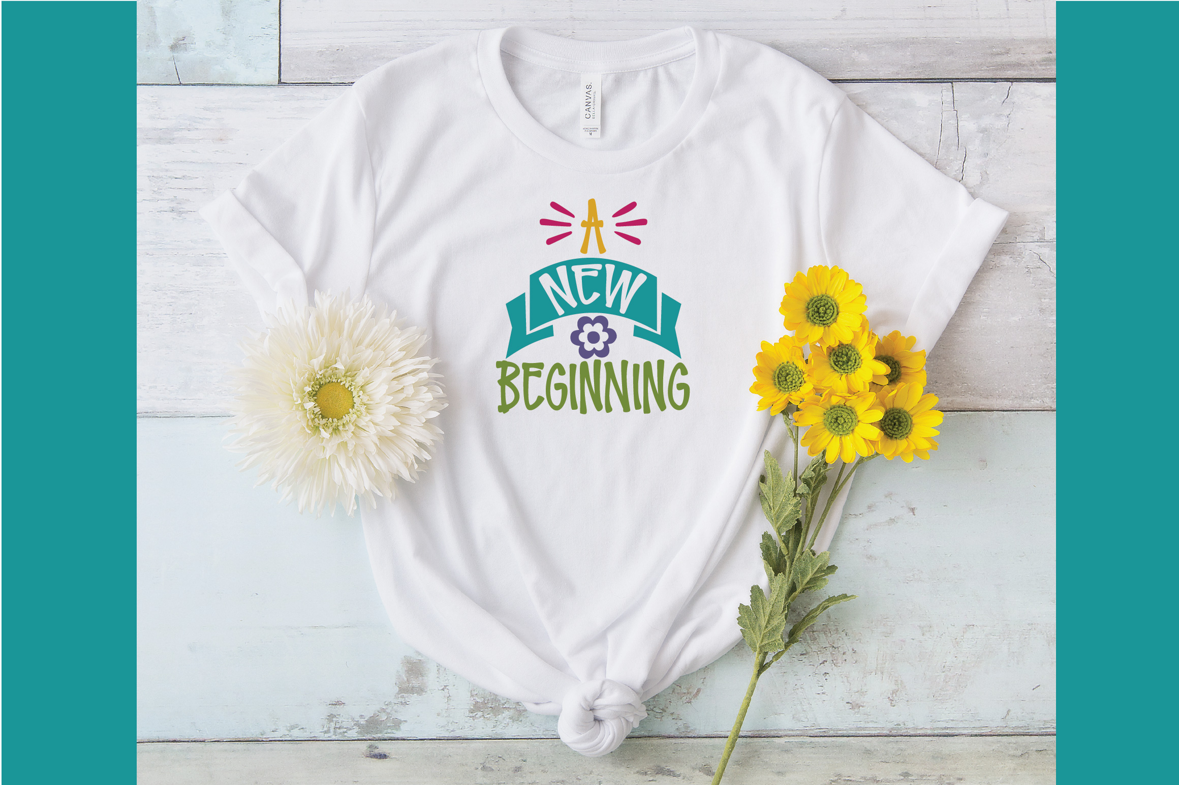 A New Beginning SVG Cut File - Spring SVG DXF EPS PNG JPG AI example image 4