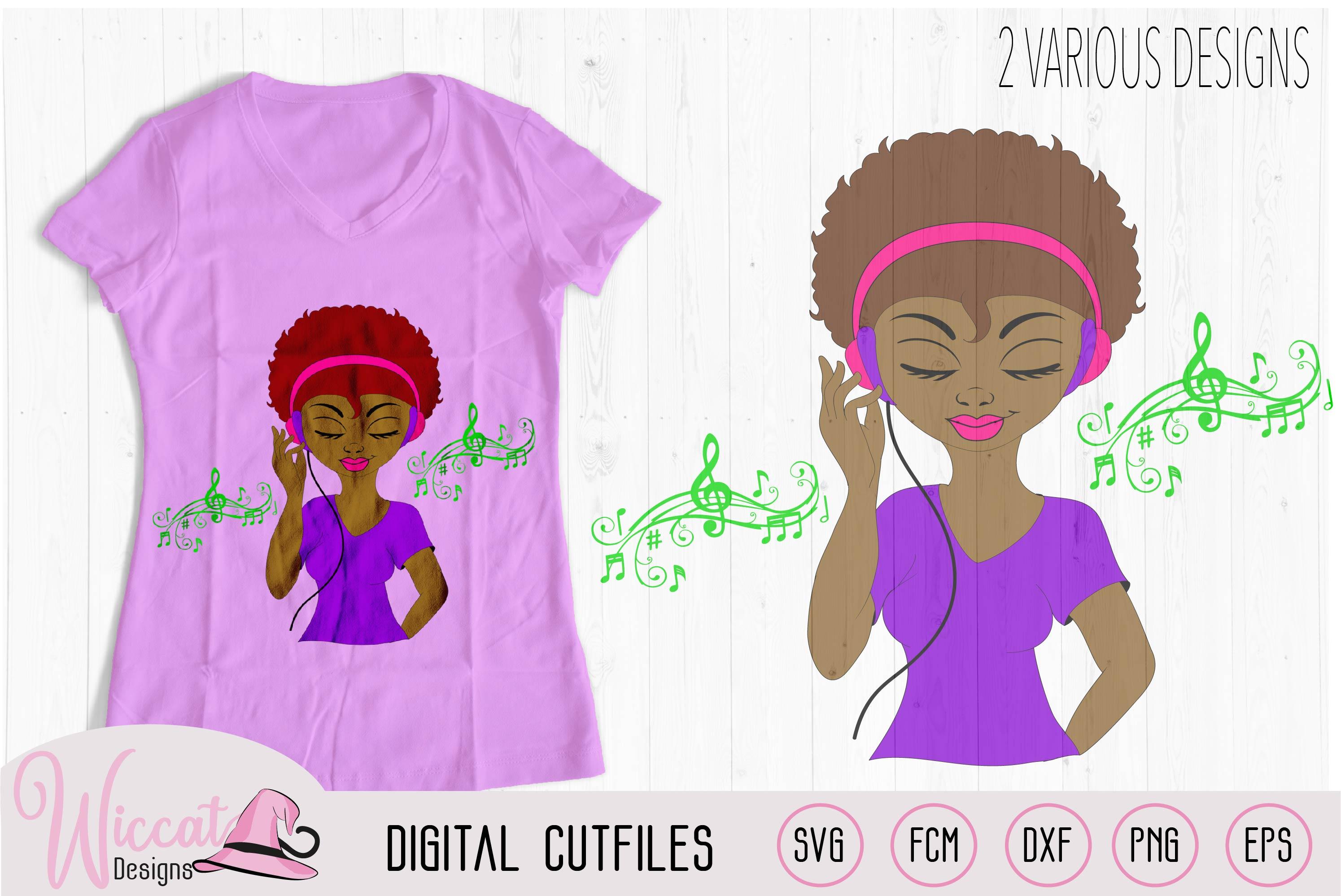 Afro DJ girl, Soul sister, Music girl, headphone and Music example image 2