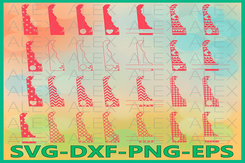 Delaware State SVG, Delaware SVG files for Cricut example image 1