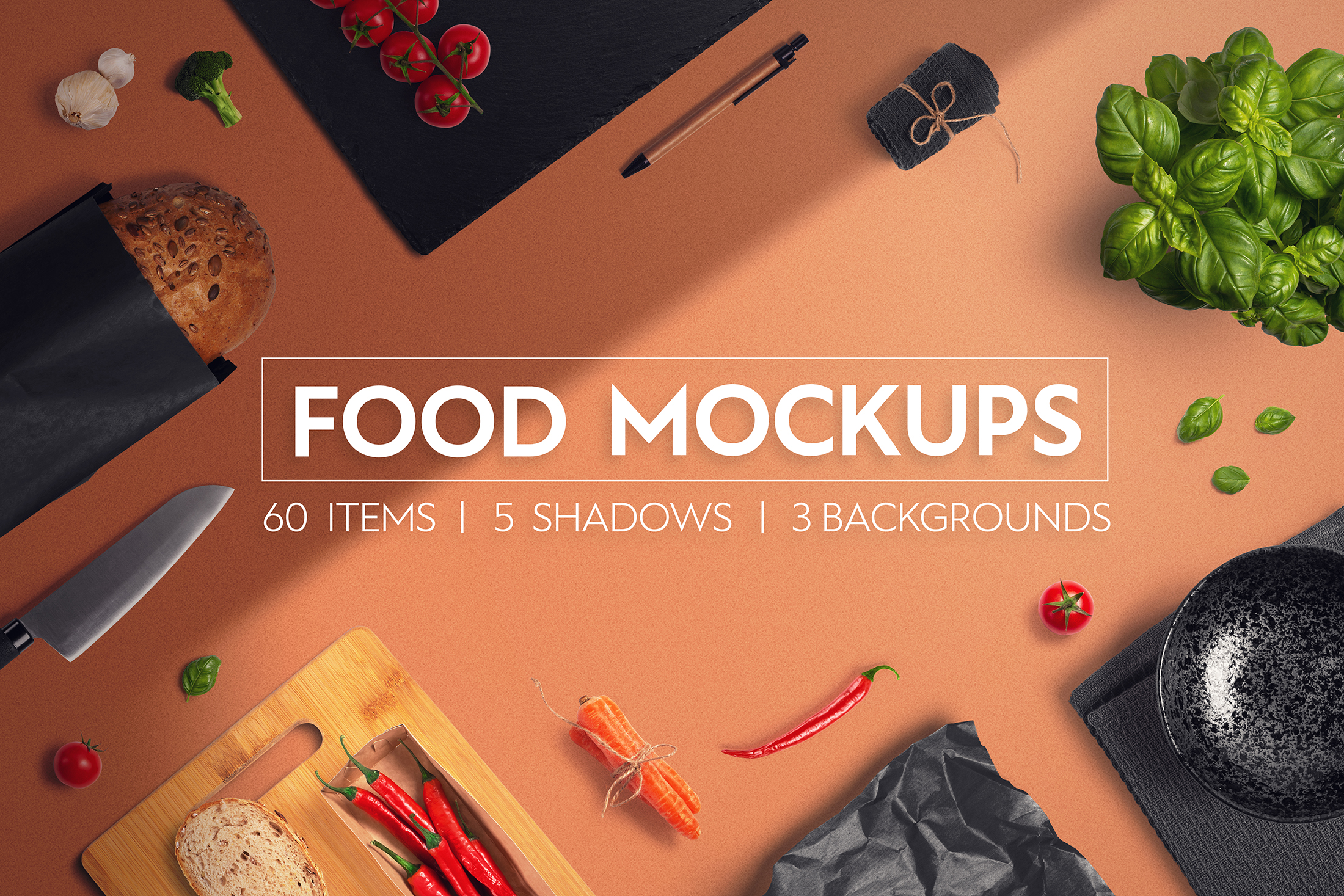 Food & Restaurant Mockup Collection example image 1