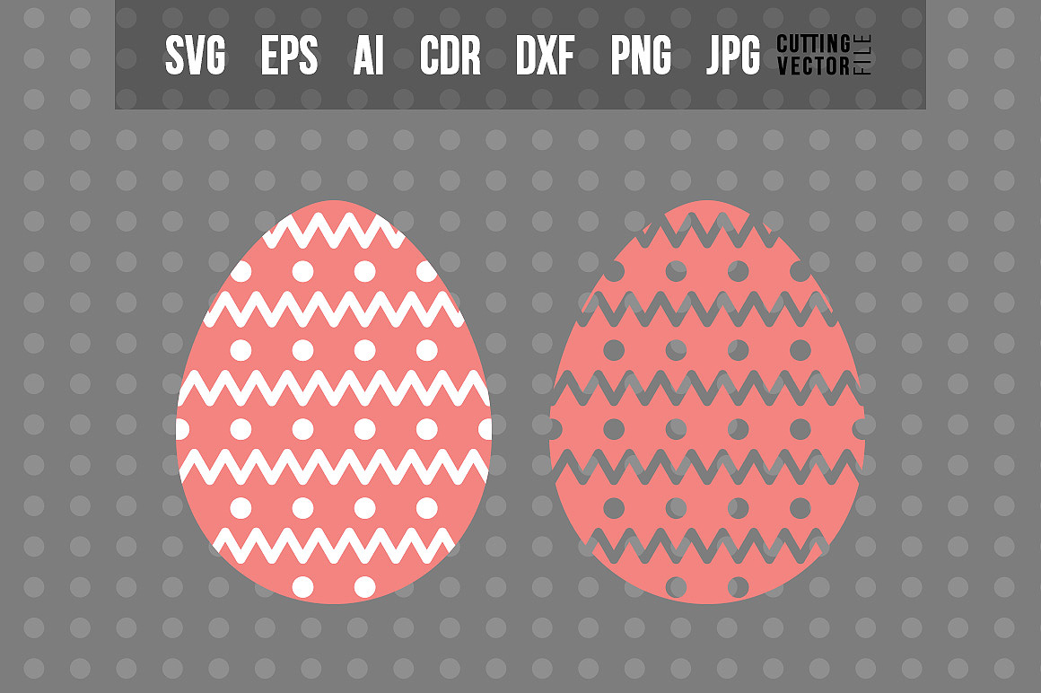 Easter Egg SVG - Vector Design example image 1