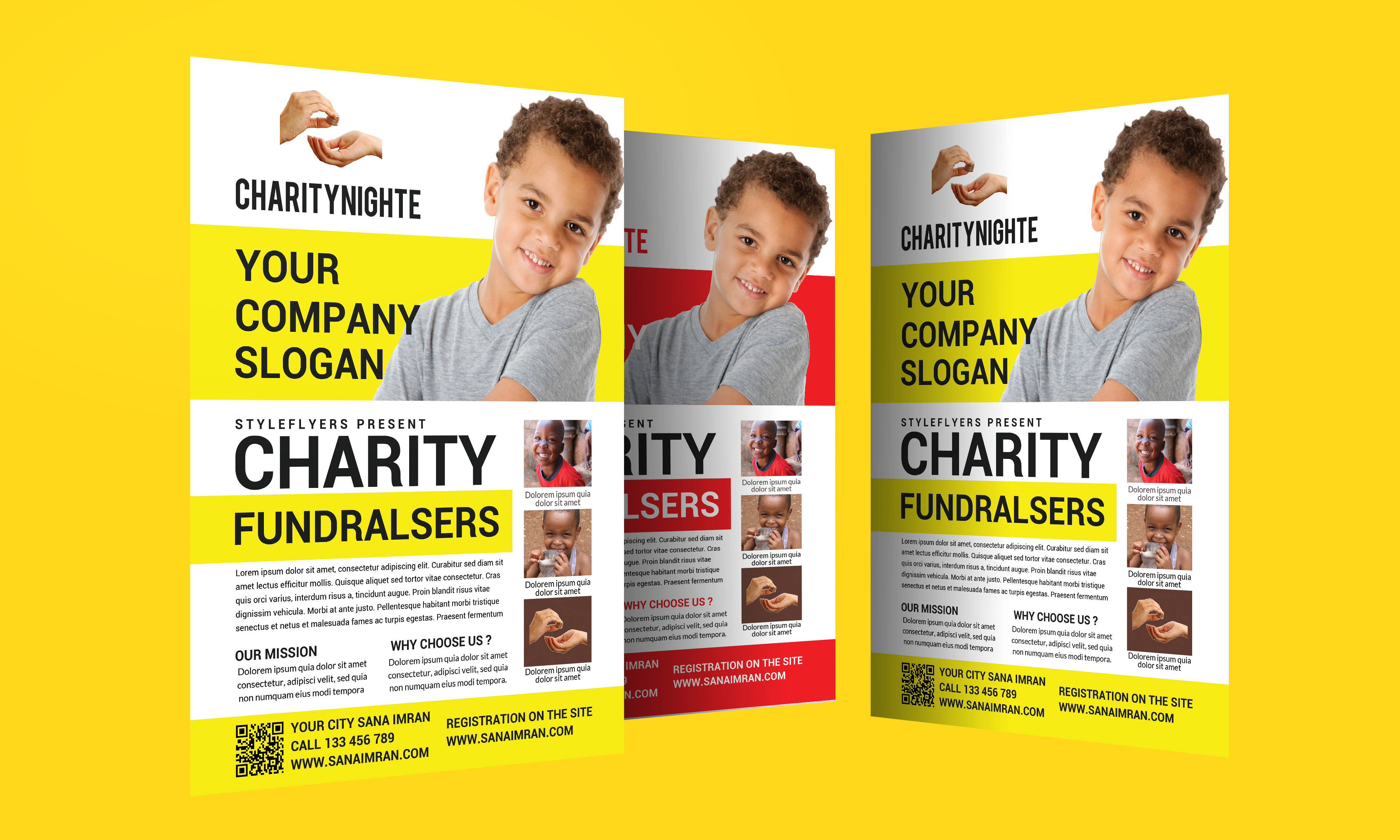 Charity Night Fundraisers Flyer example image 4